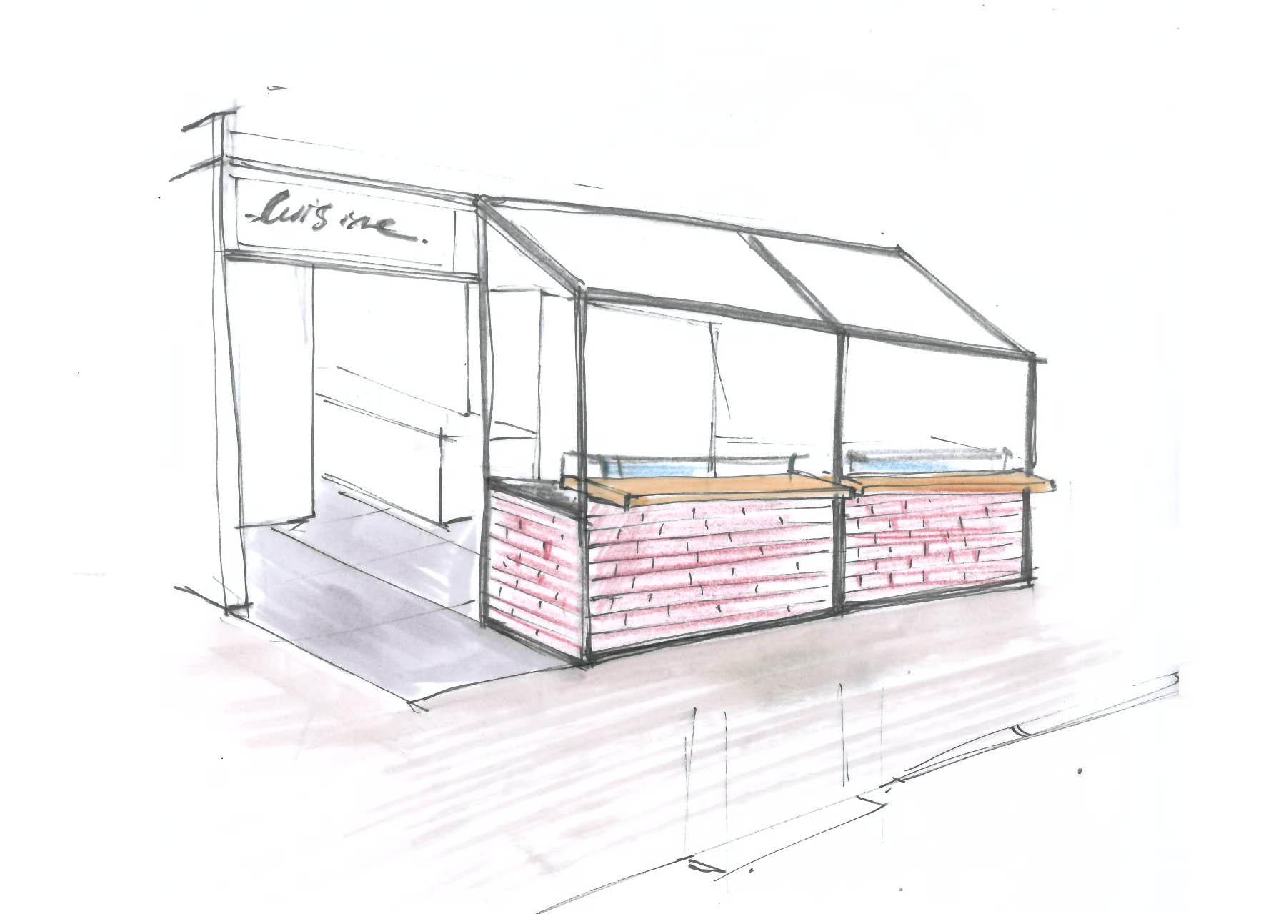 esquisse-agencement-pizza-etxeco-biarritz-sophie-david-architecte-interieur