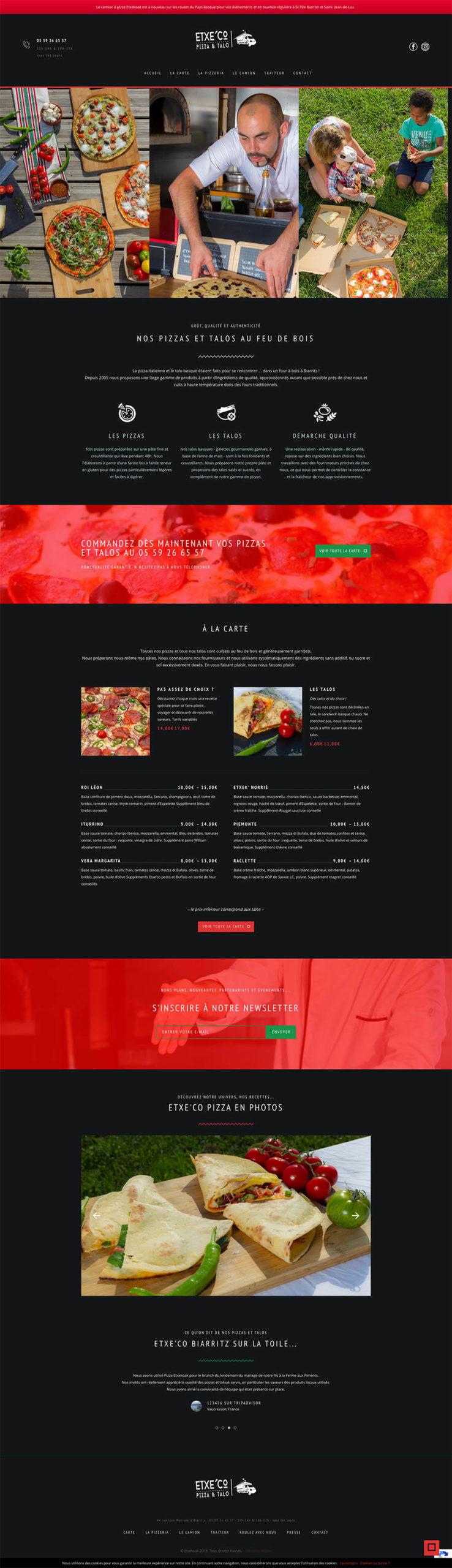maquette-site-internet-etxeco-pizza-biarritz